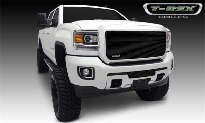 Exterior Accessories - Grille - T-Rex Grilles - 2015-2019 SEIRRA 2500/3500 HD T-Rex Black Billet Series Grille, 1 Pc, Insert