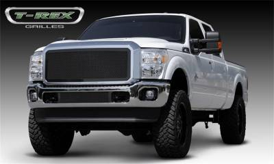 Exterior Accessories - Grille - T-Rex Grilles - 11-16 FORD F250/F350 Super Duty  T-Rex Black Upper Class Mesh Grille, 1 Pc, Insert