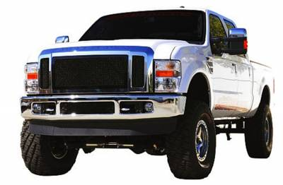 Exterior Accessories - Grille - T-Rex Grilles - 08-10 Super Duty F250/F350 Super Duty T-Rex Black Upper Class Series Main Grille, 3 Pc, Insert