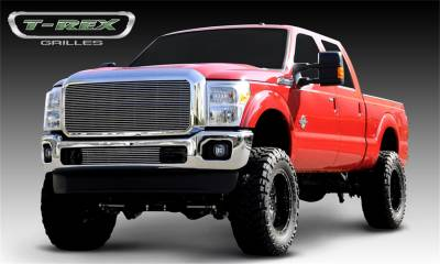 Exterior Accessories - Grille - T-Rex Grilles - 11-16 FORD F250/F350 Super Duty T-Rex Polished Billet Series Grille, 1 Pc, Insert