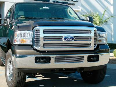 Exterior Accessories - Grille - T-Rex Grilles - 05-07  FORD F250/F350/F450/F550 Ford Super Duty  T-Rex Polished Billet Grille, 6 Pc, Overlay