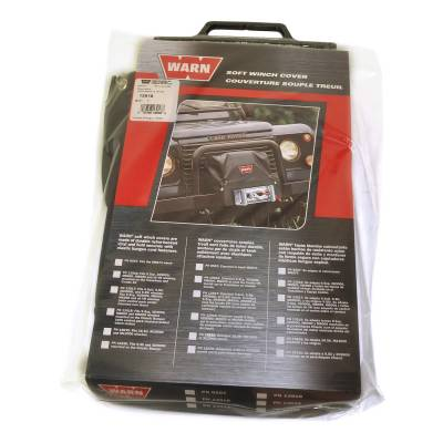 Winches and Accessories - Winch Cover - Warn - Soft Winch Cover | Warn (13918)