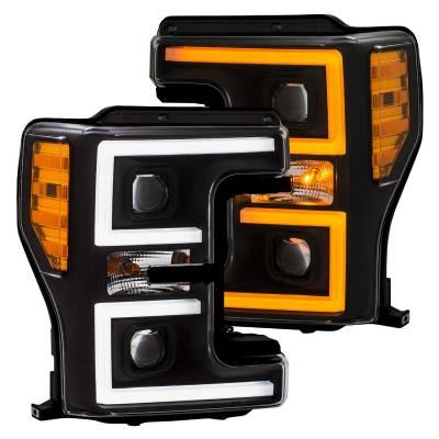 Anzo Switchback Black/Amber Projector Headlamp Set - Image 2