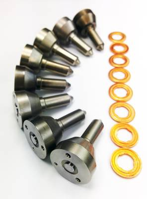 Diesel Injection and Delivery - Diesel Fuel Nozzle Set - Dynomite Diesel - Ford 94-97 7.3L Stage 2 Nozzle Set 25 Percent Over Dynomite Diesel