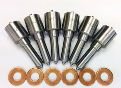 Diesel Injection and Delivery - Diesel Fuel Nozzle Set - Dynomite Diesel - Dodge 98.5-02 24v Injector Nozzle Set 50hp Dynomite Diesel