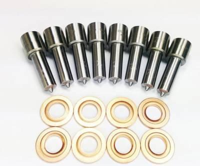 Diesel Injection and Delivery - Diesel Fuel Nozzle Set - Dynomite Diesel - Duramax 01-04 LB7 CUSTOM Super Mental Nozzle Set Dynomite Diesel