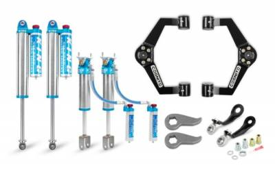 Suspension Steering & Brakes - Leveling Kits - Cognito Motorsports - Cognito 3-Inch Elite Leveling Kit with King 2.5 Reservoir Shocks For 2020 Silverado/Sierra 2500/3500 2WD/4WD