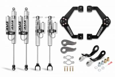 Suspension Steering & Brakes - Leveling Kits - Cognito Motorsports - Cognito 3-Inch Premier Leveling Kit with Fox PSRR 2.0 for 11-19 Silverado/Sierra 2500/3500