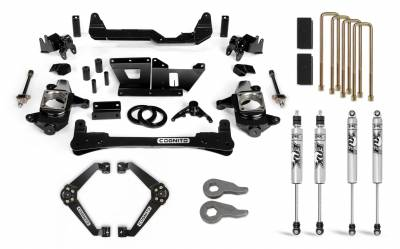 Cognito 6-Inch Standard Lift Kit with Fox PS 2.0 IFP for 01-10 Silverado/Sierra 2500/3500 2WD/4WD