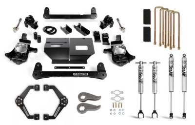 "Lift Kit - 5""-6"" Lift Kits - Cognito Motorsports - Cognito 6-Inch Standard Lift Kit with Fox PS 2.0 IFP for 11-19 Silverado/Sierra 2500/3500 2WD/4WD"