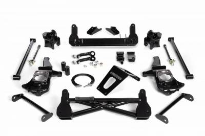 "Lift Kit - Over 6"" Lift Kits - Cognito Motorsports - Cognito 7-9 Inch Non-Torsion Bar Drop Front Suspension Lift Kit For 11-19 Silverado/Sierra 2500HD/3500HD 2WD Stabilitrak"