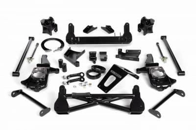 "Lift Kit - Over 6"" Lift Kits - Cognito Motorsports - Cognito 7-9 Inch Non-Torsion Bar Drop Front Suspension Lift Kit For 11-19 Silverado/Sierra 2500HD/3500HD 4WD Stabilitrak"
