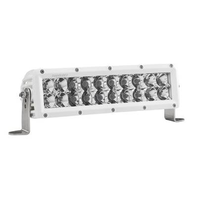 Auxiliary Lighting - 10 Inch Light Bars - Rigid Industries - 10 Inch Spot/Flood Combo Light White Housing E-Series Pro RIGID Industries