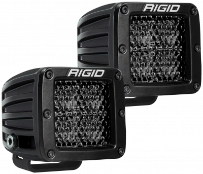 Auxiliary Lighting - LED Light Pods - Rigid Industries - Spot Diffused Midnight Surface Mount Pair D-Series Pro RIGID Industries