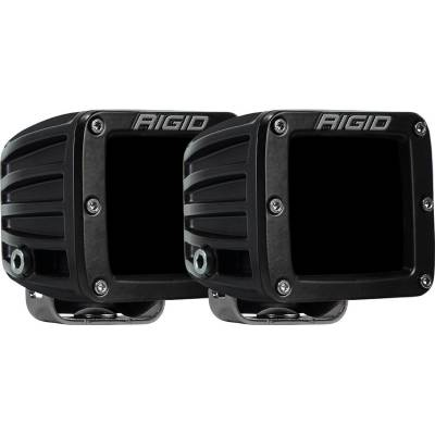 Auxiliary Lighting - LED Light Pods - Rigid Industries - Infrared Spot Surface Mount Pair D-Series Pro RIGID Industries