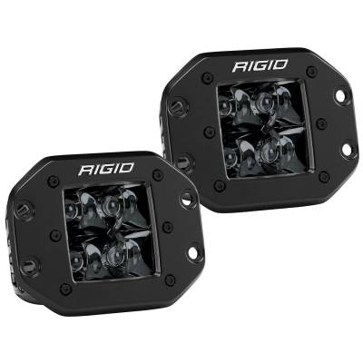 Auxiliary Lighting - LED Light Pods - Rigid Industries - Spot Flush Mount Midnight Pair D-Series Pro RIGID Industries