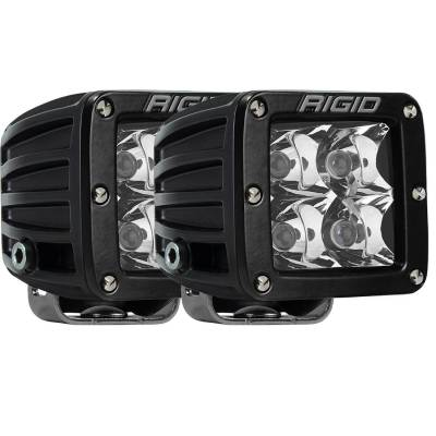 Auxiliary Lighting - LED Light Pods - Rigid Industries - Spot E-Mark Surface Mount Pair D-Series Pro RIGID Industries