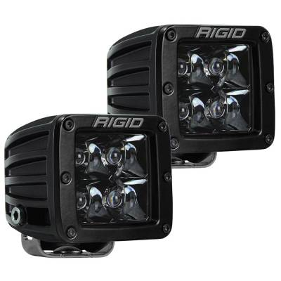 Auxiliary Lighting - LED Light Pods - Rigid Industries - Spot Surface Mount Midnight Pair D-Series Pro RIGID Industries