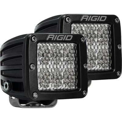 Auxiliary Lighting - LED Light Pods - Rigid Industries - Diffused Surface Mount Pair D-Series Pro RIGID Industries