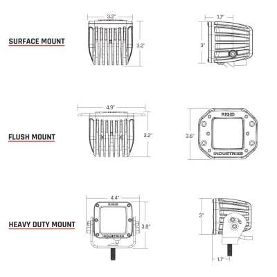 Rigid Industries - Diffused Surface Mount Pair D-Series Pro RIGID Industries - Image 3