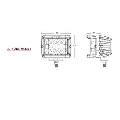 Rigid Industries - Spot Surface Mount Pair D-SS Pro RIGID Industries - Image 3