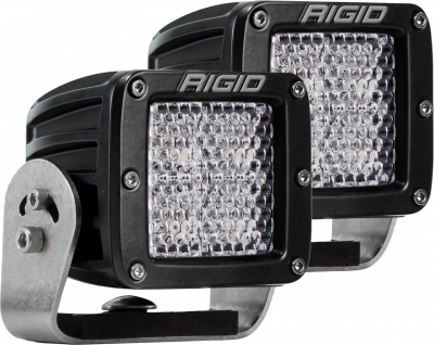 Auxiliary Lighting - LED Light Pods - Rigid Industries - Heavy Duty Mount Diffused Pair D-Series Pro RIGID Industries