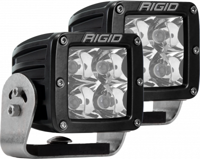 Auxiliary Lighting - LED Light Pods - Rigid Industries - Heavy Duty Mount Spot Pair D-Series Pro RIGID Industries