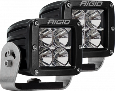 Auxiliary Lighting - LED Light Pods - Rigid Industries - Heavy Duty Mount Flood Pair D-Series Pro RIGID Industries