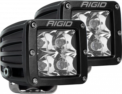 Auxiliary Lighting - LED Light Pods - Rigid Industries - Spot Surface Mount Black Pair D-Series Pro RIGID Industries