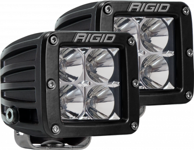 Auxiliary Lighting - LED Light Pods - Rigid Industries - Flood Surface Mount Black Pair D-Series Pro RIGID Industries