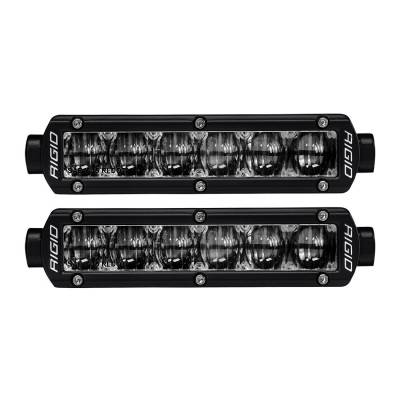 Auxiliary Lighting - SAE Compliant Lights - Rigid Industries - SAE 6 Inch Fog Light Pair SR-Series Pro RIGID Industries