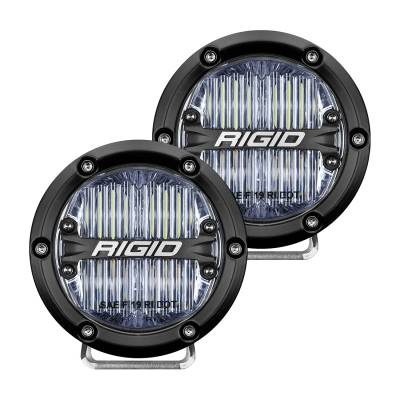 Auxiliary Lighting - SAE Compliant Lights - Rigid Industries - 360-Series 4 Inch Sae J583 Fog Light White Pair RIGID Industries