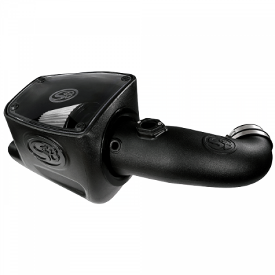 Cold Air Intake For 08-10 Ford F250 F350 V8-6.4L Powerstroke Dry Extendable White S&B - dieselpros.com