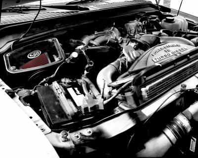 Cold Air Intake For 08-10 Ford F250 F350 V8-6.4L Powerstroke Cotton Cleanable Red S&B - dieselpros.com