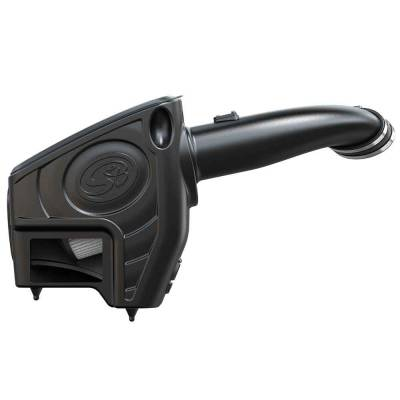 Cold Air Intake For 11-16 Ford F250 F350 V8-6.7L Powerstroke Dry Extendable White S&B - dieselpros.com