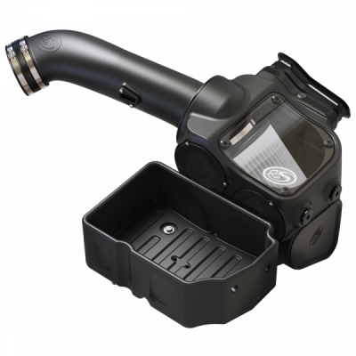 S&B Products - Cold Air Intake For 17-19 Ford F250 F350 V8-6.7L Powerstroke Dry Extendable White S&B - Image 4