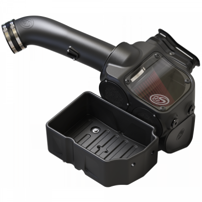 S&B Products - Cold Air Intake For 17-19 Ford F250 F350 V8-6.7L Powerstroke Cotton Cleanable Red S&B - Image 4