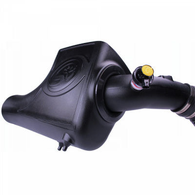 Cold Air Intake For 03-07 Ford F250 F350 F450 F550 V8-6.0L Powerstroke Dry Extendable White S&B - dieselpros.com