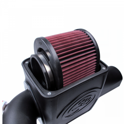 Cold Air Intake For 03-07 Ford F250 F350 F450 F550 V8-6.0L Powerstroke Cotton Cleanable Red S&B - Dieselpros.com