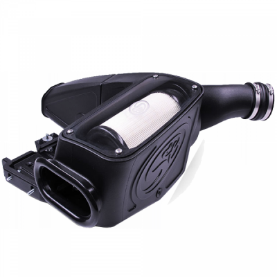Cold Air Intake For 98-03 Ford F250 F350 F450 F550 V8-7.3L Powerstroke Dry Extendable White S&B - dieselpros.com