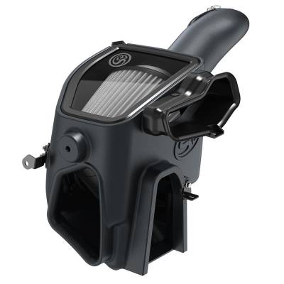 Cold Air Intake For 2020 Ford F250 F350 V8-6.7L Powerstroke Dry Extendable White S&B - dieselpros.com
