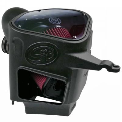 Cold Air Intake For 03-07 Dodge Ram 2500 3500 5.9L Cummins Cotton Cleanable Red S&B - dieselpros.com