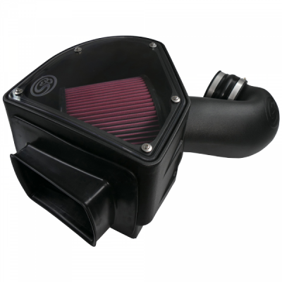 S&B Products - Cold Air Intake For 94-02 Dodge Ram 2500 3500 5.9L Cummins Cotton Cleanable Red S&B
