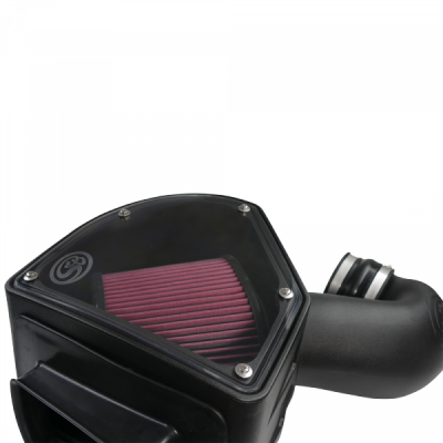 Cold Air Intake For 94-02 Dodge Ram 2500 3500 5.9L Cummins Cotton Cleanable Red S&B - dieselpros.com