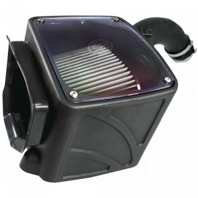 S&B Products - Cold Air Intake For 01-04 Chevrolet Silverado GMC Sierra V8-6.6L LB7 Duramax Dry Extendable White S&B - Image 4