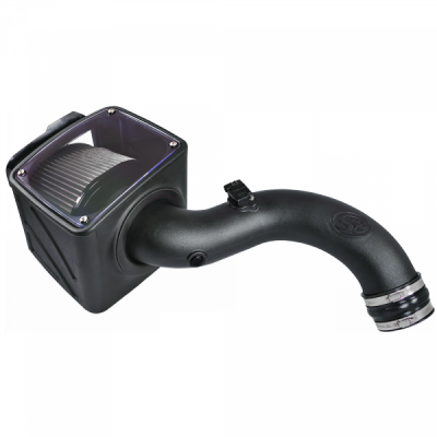 S&B Products - Cold Air Intake For 01-04 Chevrolet Silverado GMC Sierra V8-6.6L LB7 Duramax Dry Extendable White S&B - Image 5