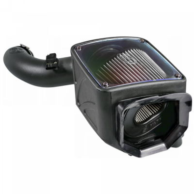 S&B Products - Cold Air Intake For 01-04 Chevrolet Silverado GMC Sierra V8-6.6L LB7 Duramax Dry Extendable White S&B - Image 6