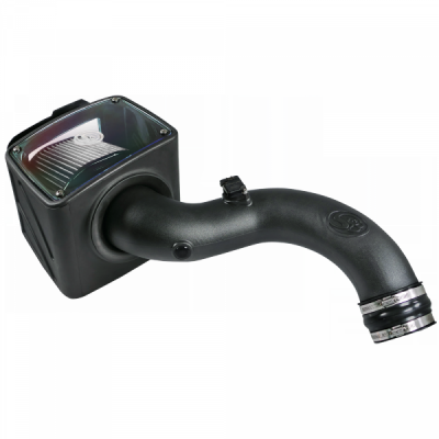 S&B Products - Cold Air Intake For 01-04 Chevrolet Silverado GMC Sierra V8-6.6L LB7 Duramax Dry Extendable White S&B - Image 7