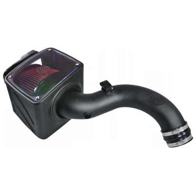 S&B Products - Cold Air Intake For 01-04 Chevrolet Silverado GMC Sierra V8-6.6L LB7 Duramax Cotton Cleanable Red S&B - Image 5