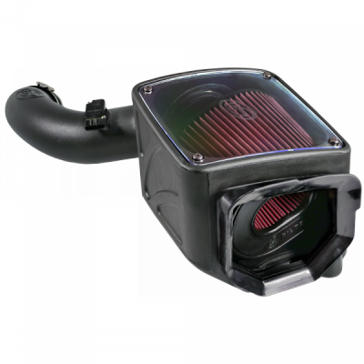 S&B Products - Cold Air Intake For 01-04 Chevrolet Silverado GMC Sierra V8-6.6L LB7 Duramax Cotton Cleanable Red S&B - Image 7
